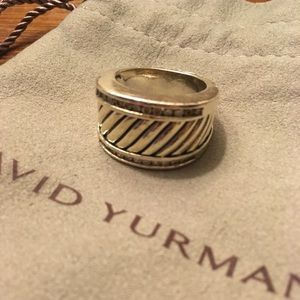 David Yurman thoroughbred diamond cigar ring